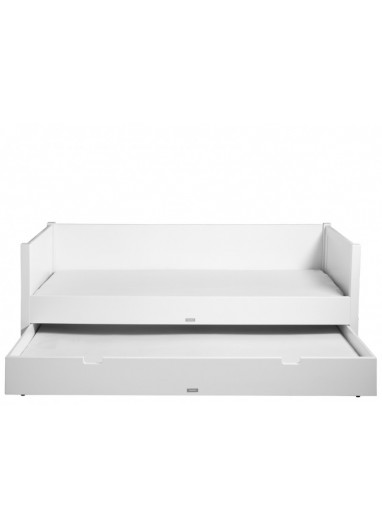 Bench Bed 90x200 With 3 Drawers Indy White/Natural Bopita
