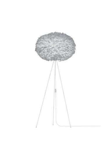 Lámpara plumas gris de suelo