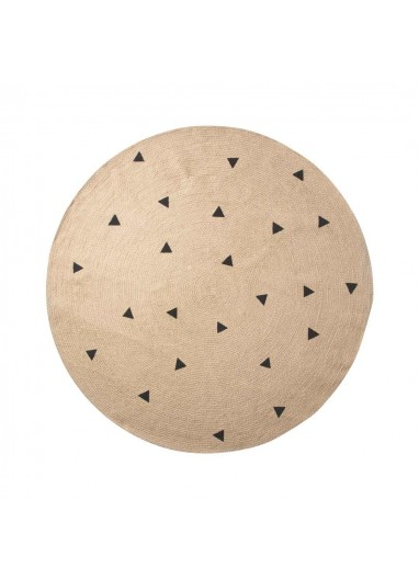 Jute rug L BlackTriangles Ferm Living