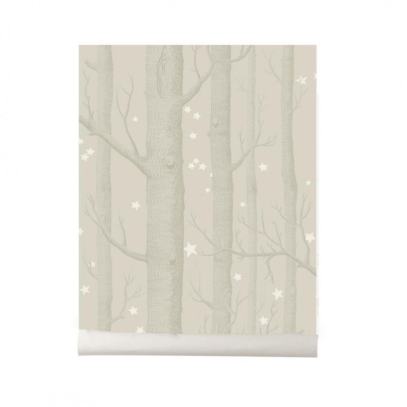 Papel pintado Wood and Stars light beige Cole and Son