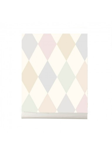 Puchinello wallpaper pastel Cole and Son