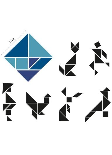 Tangram azul Groovy Magnets