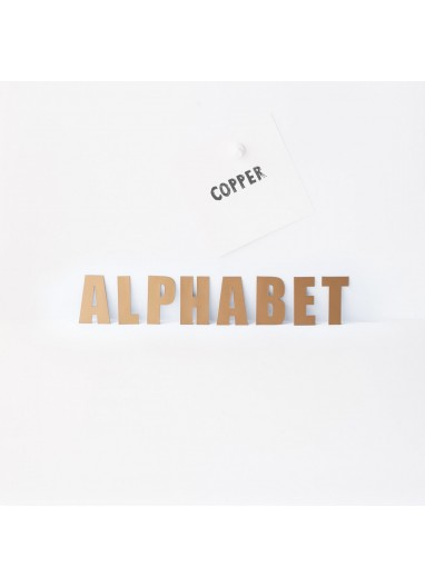 Alphabet copper Groovy Magnetic
