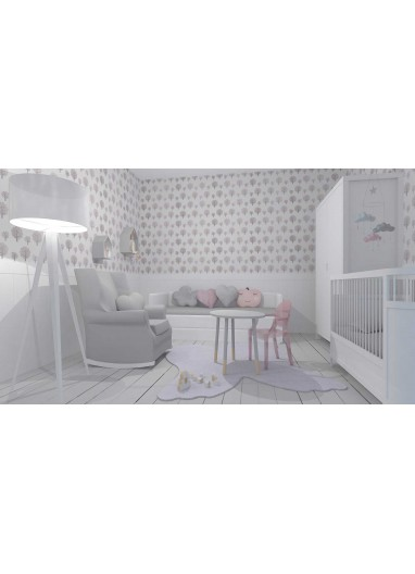 Papel Pintado Infantil Dotty Rose Ferm Living