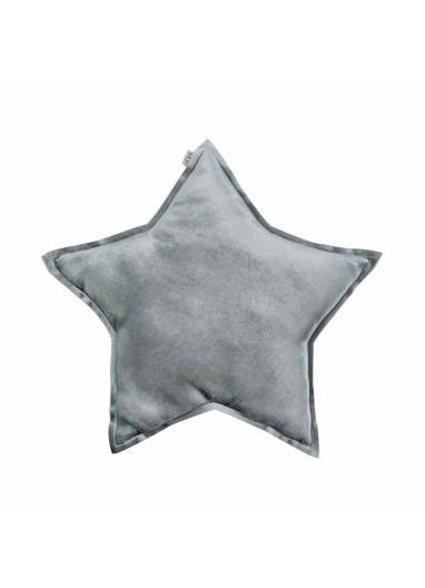 Cojin Estrella SIlver Grey Terciopelo de Numero74
