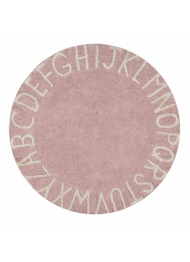Round ABC Rug Natural Lorena Canals