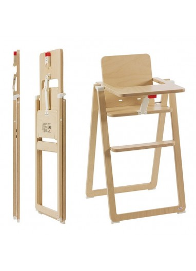 Folding Highchair SUPAflat Natural