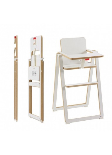 Folding Highchair SUPAflat White