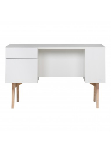 Sixties Desk White/Natural Kidsmill