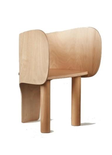 silla elefante infantil de madera