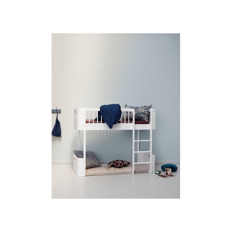 Cama Low Loft Wood Mini+ Blanca Oliver furniture