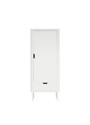 The Sebra Wardrobe single door white