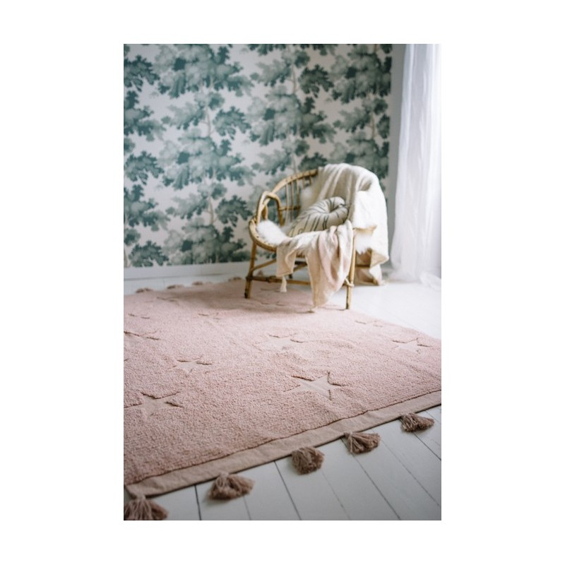 Alfombra Lavable Hippy Stars Vintage Nude Lorena Canals