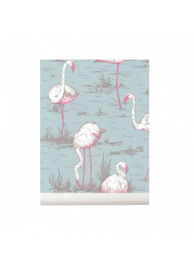 Flamingos Wallpaper blue Cole and Son New Contemporary Collection 66/6044