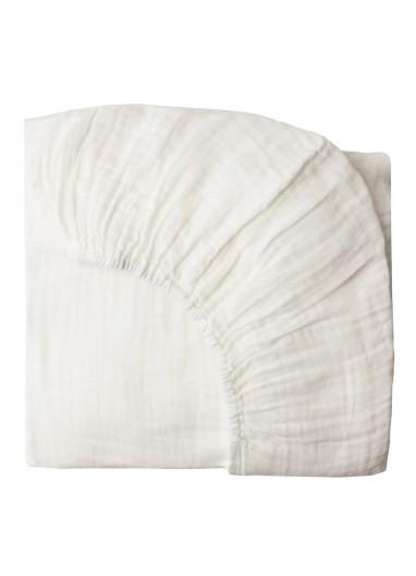 Fitted Sheet plain White Numero74 70x140cm