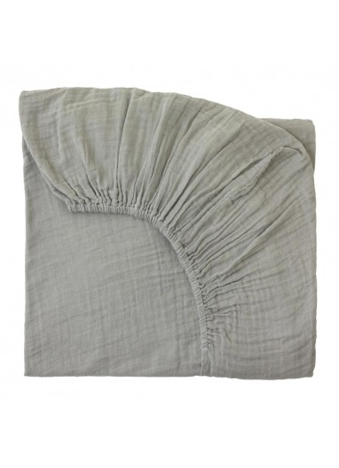 Fitted Sheet plain Silver Grey 70x140cm Numero74