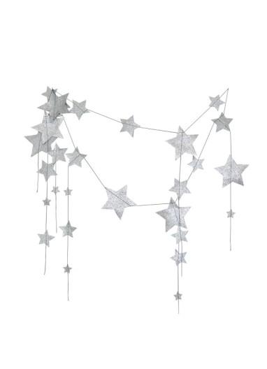 Stars Garland Silver Numero74