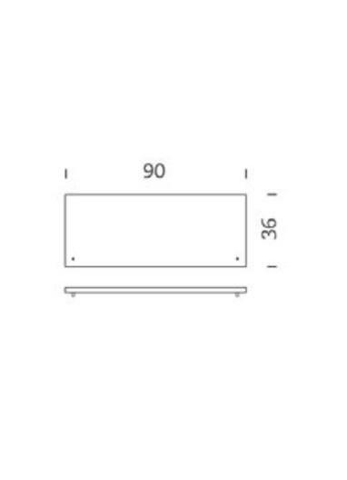 Tapa armario acero gris 90cm Tria 36 Mobles114