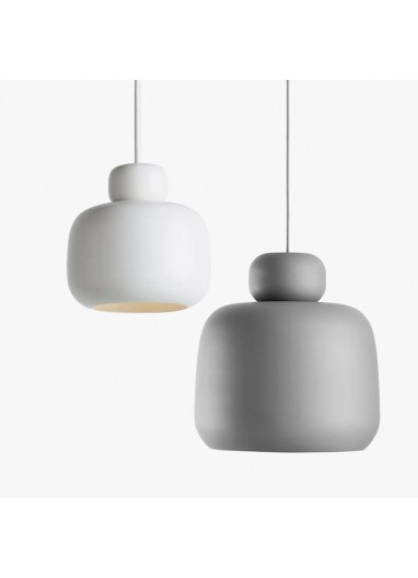 Stone pendant light small white WOUD