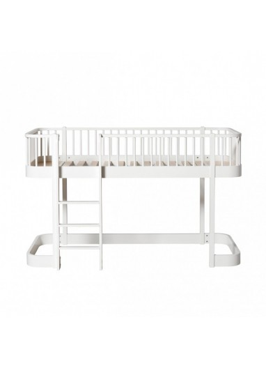 Cama mini Loft blanca Wood OLIVER FURNITURE