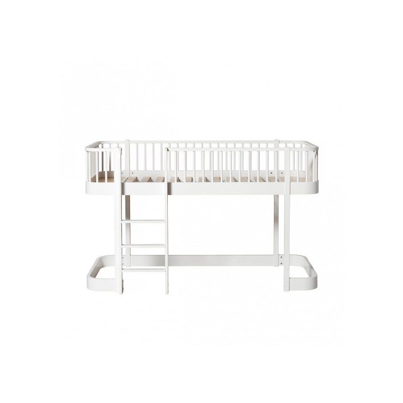Cama mini Loft blanca Wood OLIVER FURNITURE