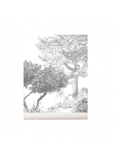 Hua Trees wallpaper Mural Grey Sian Zeng