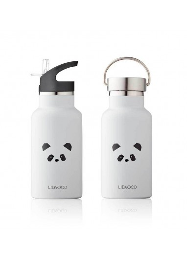 Botella de agua Anker Panda Light Grey Liewood