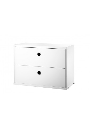 Chest 2 drawers white 58x30cm String System