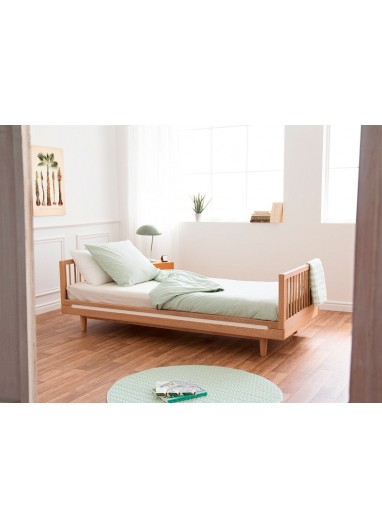 Furniture Children Beds Kids Furniture Home Furniture Solid Wood Kids Bed Whole Sale Quality Bed Frame Muebles Single Bed 210*100*40cm New
