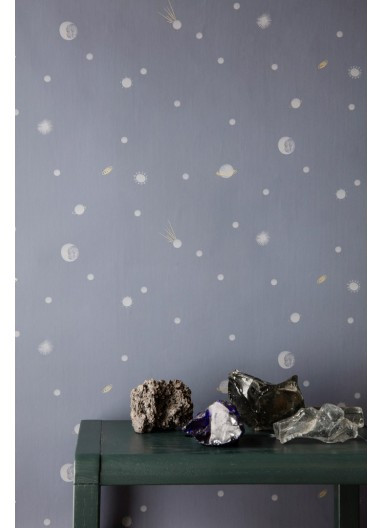 Moon wallpaper Dark Blue ferm living