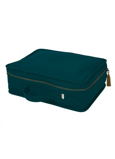 Suitcase Thai Cotton Teal Blue Numero74