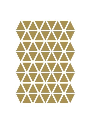 Mini Triangles Wallstickers Brass Ferm Living