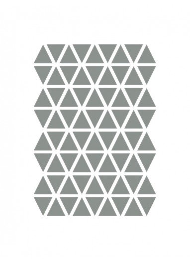 Mini Triangles Wallstickers Grey Ferm Living