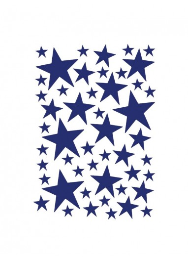 Kids Mini Stars Wallstickers Blue Ferm Living