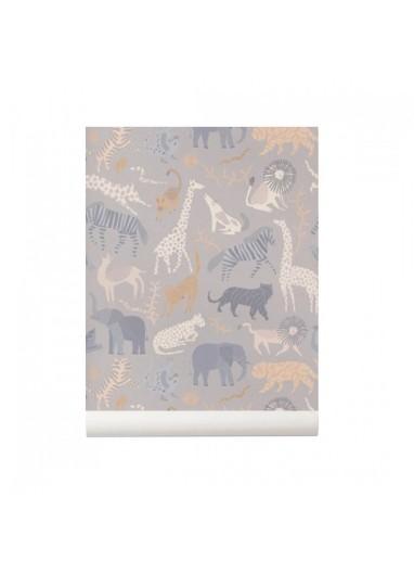Safari wallpaper ferm living