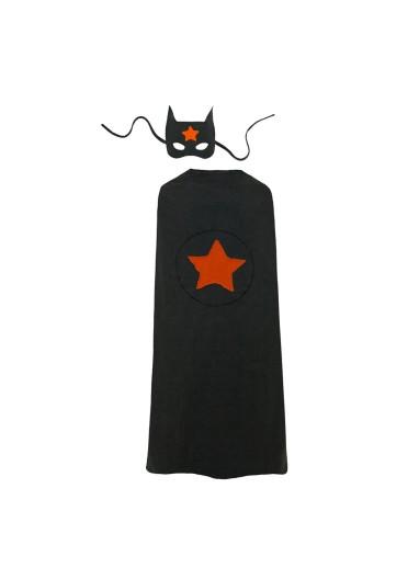 Super Hero Cape and Mask Dark Grey Numero 74