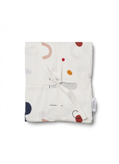 Abstract duvet cover adult Off White Liewood