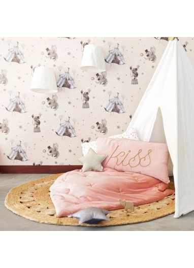 Papel pintado Circus Powder Pink Mr Mighetto
