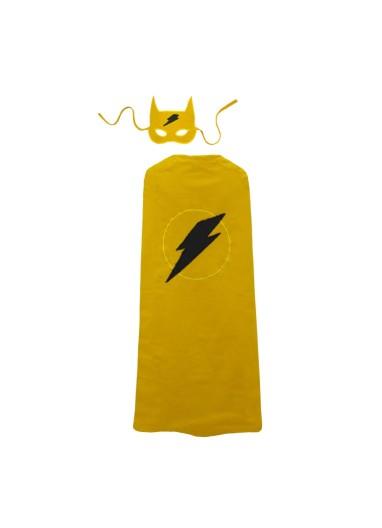 Super Hero Cape and Mask Sunflower Yellow Numero 74