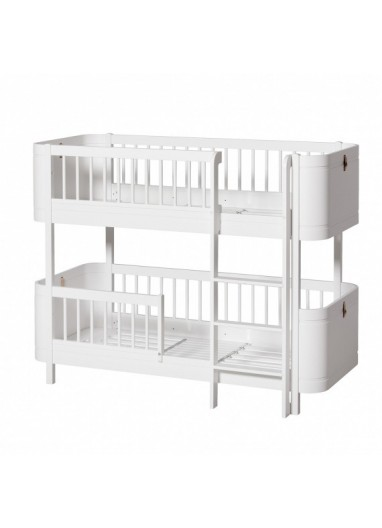 Wood Mini+ Low Bunk Bed White oliver FURNITURE