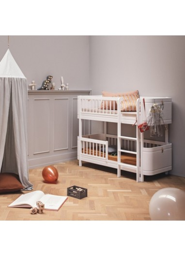 Cama Low Bunk Bed Wood Mini+ Blanca Oliver furniture