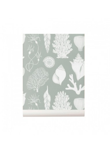 Shells Aqua wallpaper Ferm Living