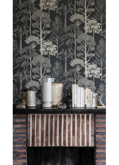 Papel pintado Trees Deep Petrol Ferm Living