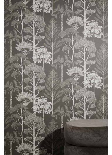 Papel pintado Trees Brown Grey Ferm Living