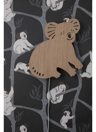 Papel pintado Koala Dark Green Ferm Living