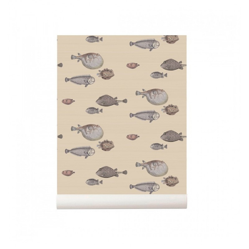 Papel pintado peces Acquario Natural Cole and Son