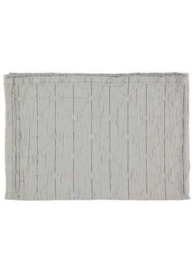 Diamond Blanket Light Grey Camomile London