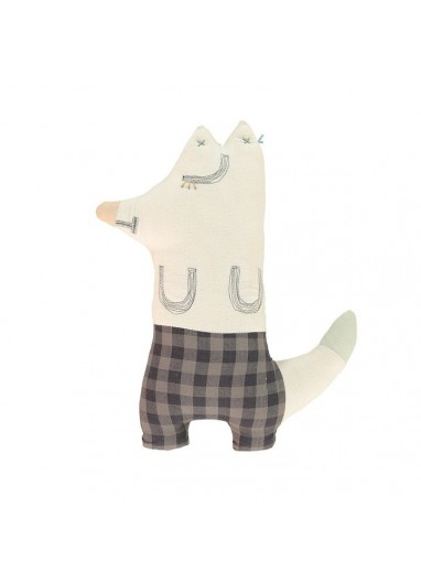 Mr Fox Check Gingham Cushion Camomile london