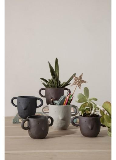 Mus Plant Pot Dark Grey S Ferm Living