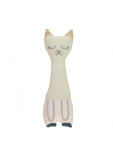 Tall Cat Stone Pink Cushion Camomile london